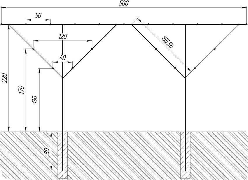 Шпалера для малины — лучшие конструкции для подвязки и расчет оптимальных размеров. чертежи, схемы и 140 фото различных типов шпалер