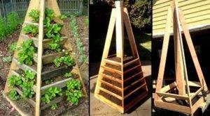 Пирамида для клубники как сделать грядку своими руками