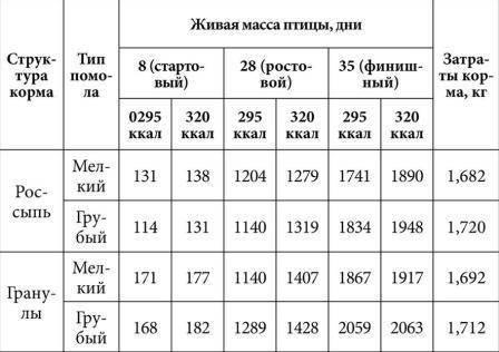 Особенности комбикормов для бройлеров (состав, корм)