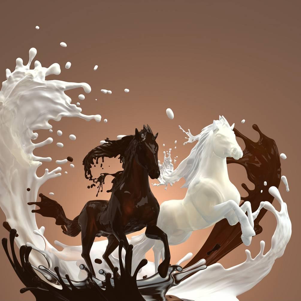 Пить молоко лошади а там плавает листо от дерева я спросилопочему не процедили