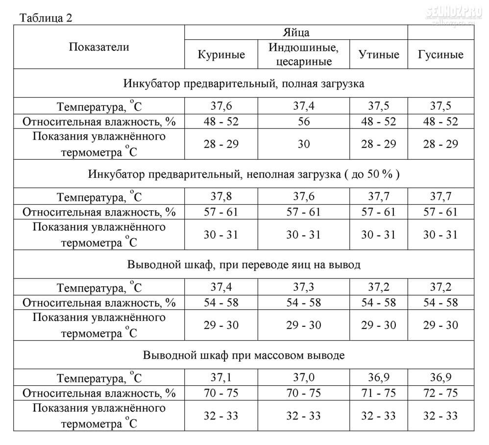 Вес бройлеров по дням (таблица)