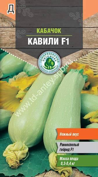 Сорт кабачков «кавили» f1: описание, фото, отзывы