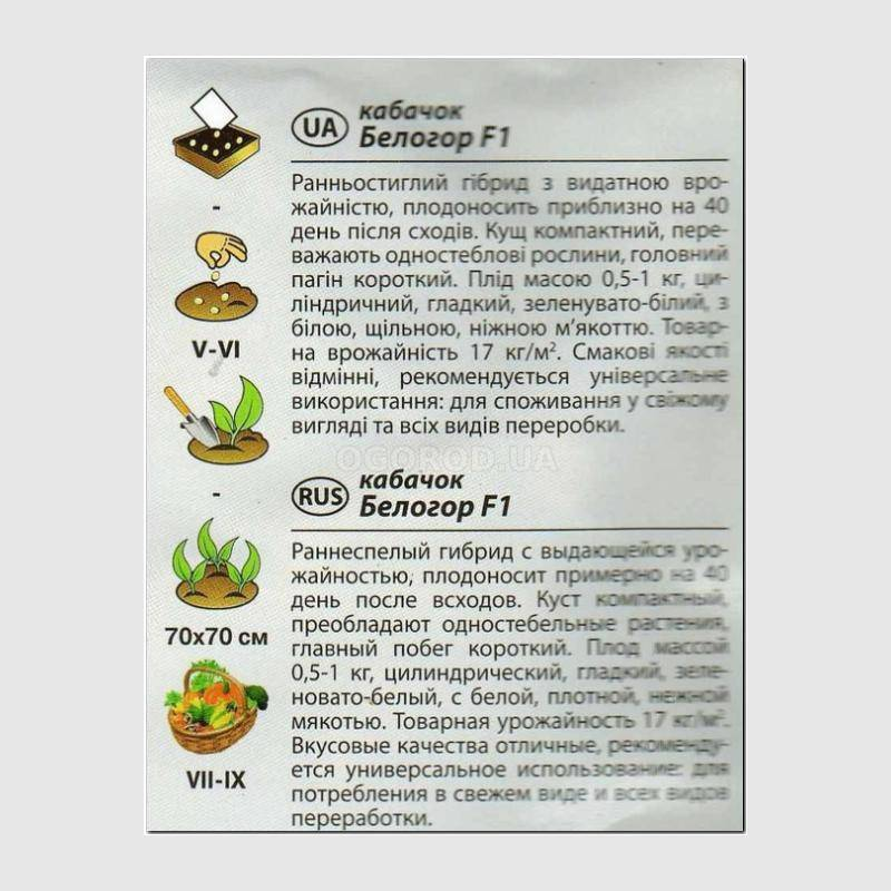 Кабачок горный — отзывы, описание сорта и характеристика