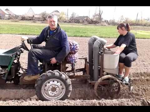 Как сажать картошку мотоблоком — идеально для тех, кто бережет свои силы и здоровье.