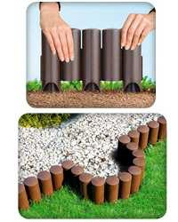 Бордюры для клумб своими руками - фото примеров