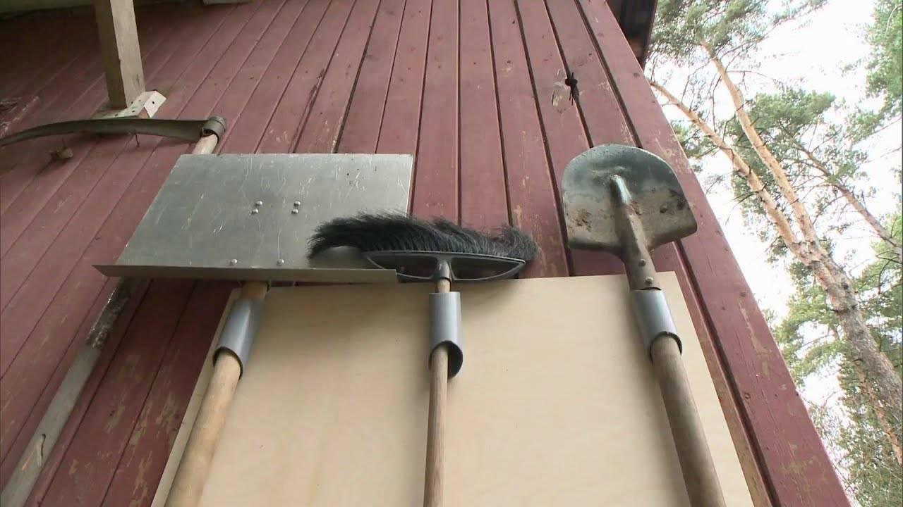 Приспособления для хранения садового инвентаря
