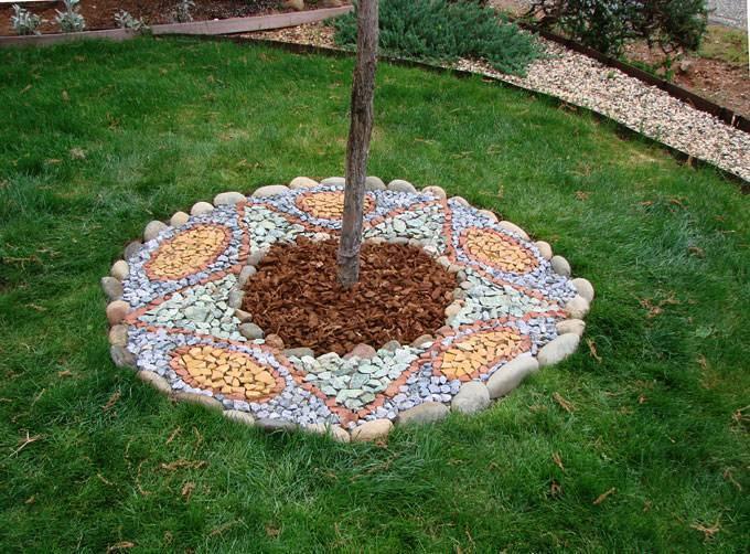 Мульчирование приствольных кругов плодовых деревьев скошенной травой образуется плесень