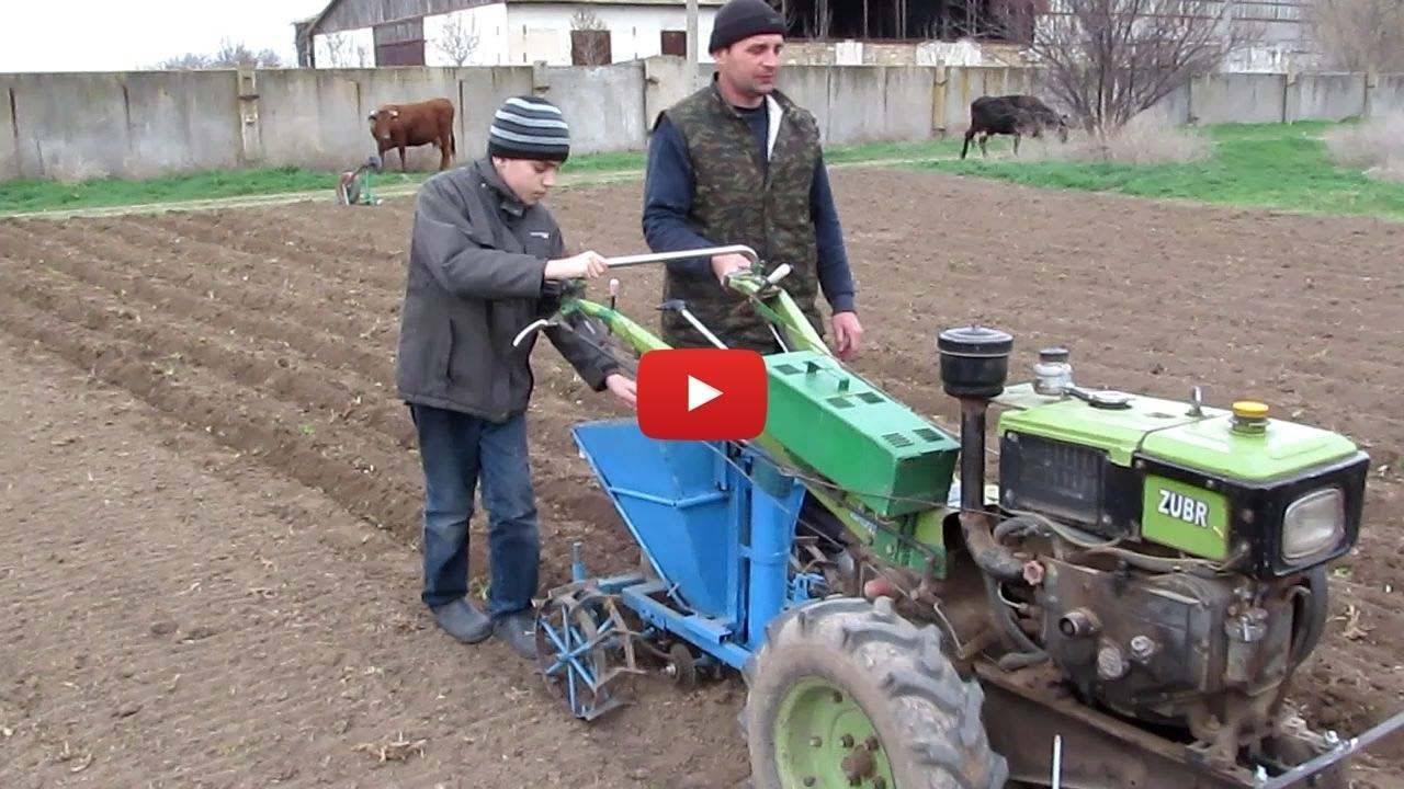 Как сажать картофель мотоблоком