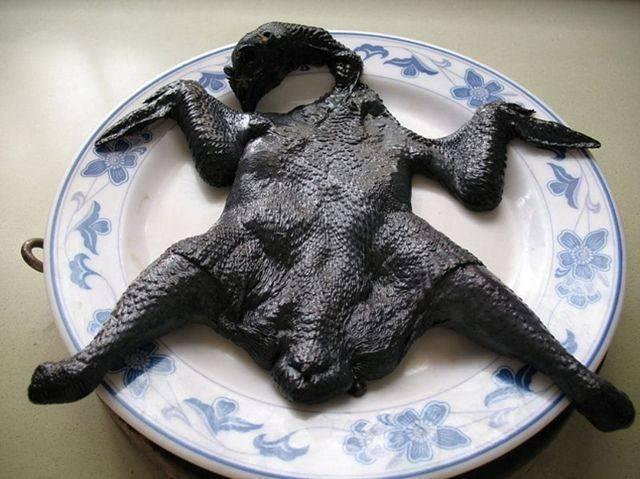 Черные куры с черным мясом