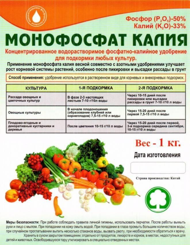 Монофосфат калия: характеристика, плюсы и минусы, внесение в огороде и дома