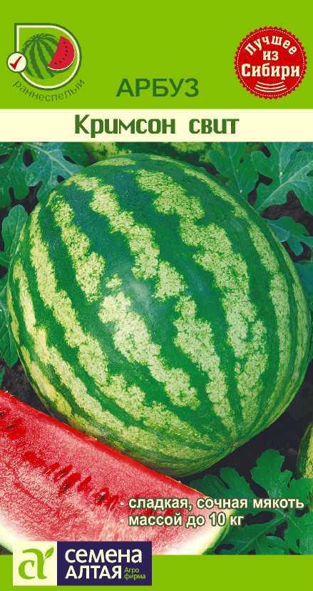 Описание и характеристики сорта арбуза кримсон свит