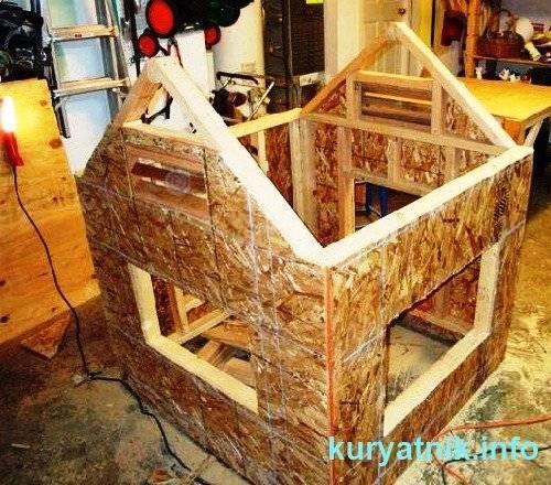 Строительство курятника на 10 кур зимнего своими руками