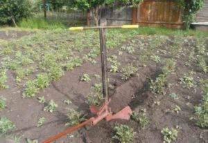Чертеж маркера для быстрой посадки картофеля без лопаты. ️