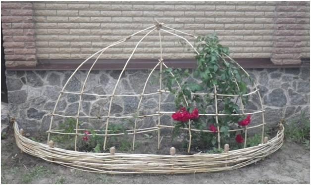 Как сделать опору для плетистой розы своими руками: кованную, перголу, сетку