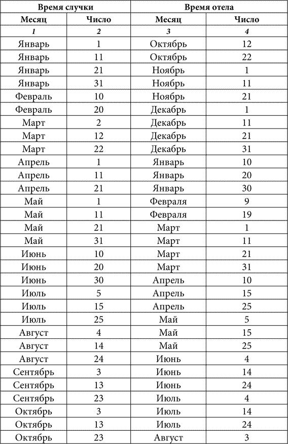 Календар отелення корів таблиця, календар тільності та отелення корови