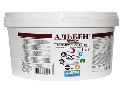 Альбен – антигельминтный препарат от паразитов у кур